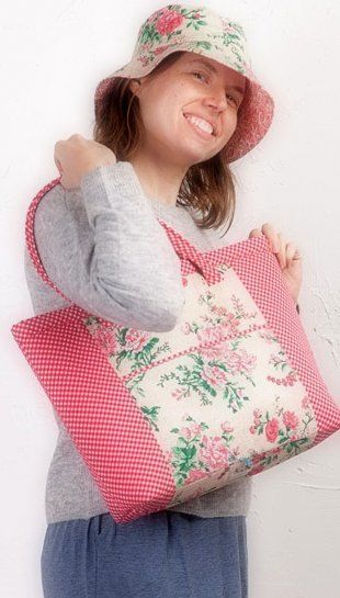 Gorgeous Hat and Tote Tomato Kit by Sewing Sue - product images  of