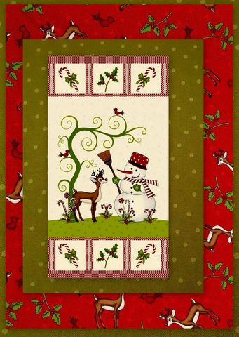Easy,Fabric,Panel,Quilt,Kit,Reindeer,Magic,Christmas,Snowman,kit,quilt fabric,cotton material,auntie chris quilt,sewing,crafts,quilting,online fabric,sale fabric