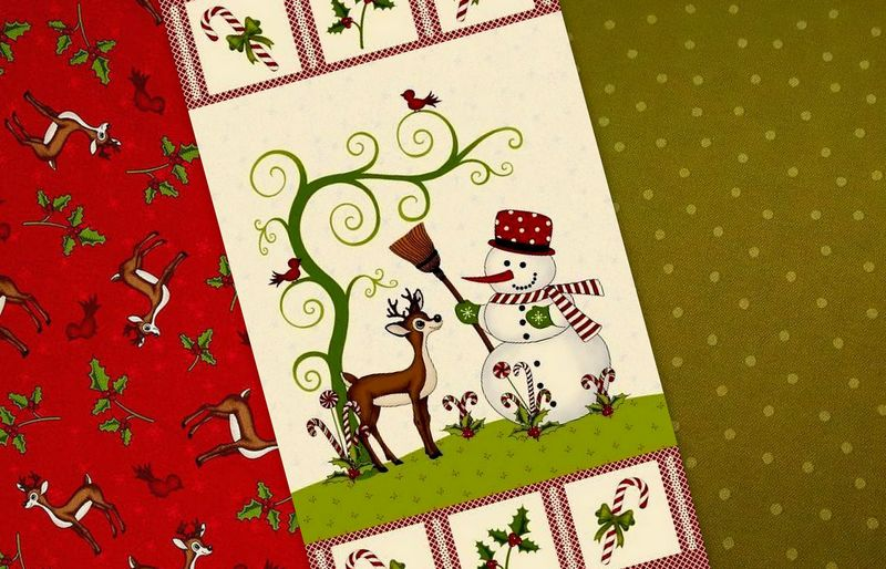 Easy Fabric Panel Quilt Kit Reindeer Magic Christmas Snowman   - product images  of