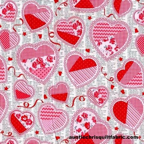Cotton,Quilt,Fabric,Hugs,And,Kisses,Hearts,Flowers,Multi,,quilt backing, dresses, quilt fabric,cotton material,auntie chris quilt,sewing,crafts,quilting,online fabric,sale fabric