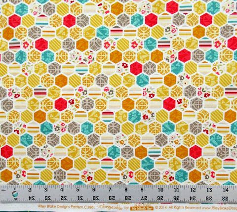 Cotton,Quilt,Fabric,Unforgettable,My,Mind's,Eye,Hexagon,quilt fabric,cotton material,auntie chris quilt,sewing,crafts,quilting,online fabric,sale fabric
