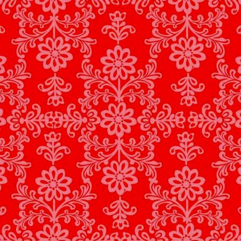 Cotton,Quilt,Fabric,Red,and,Pink,Frida's,Damask,,quilt backing, dresses, quilt fabric,cotton material,auntie chris quilt,sewing,crafts,quilting,online fabric,sale fabric