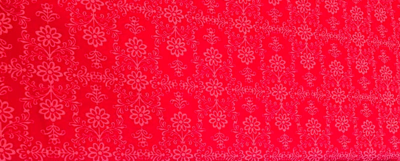 Cotton Quilt Fabric Red and Pink Frida's Damask  - product images  of