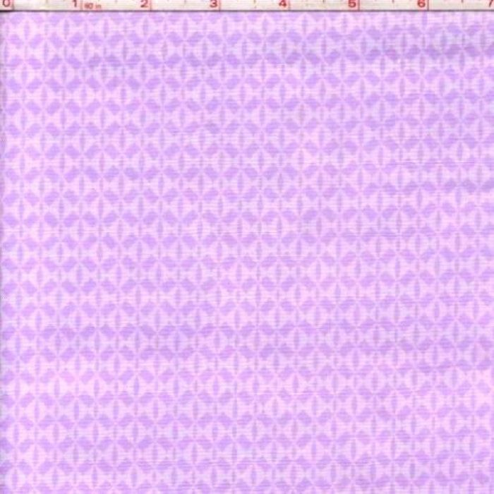 Good Buy Cotton Quilt Fabric Bloom Purple Diamonds Tone On Tone Lilac   - product image