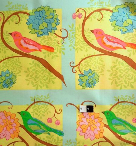 1,Panel,Quilt,Fabric,Nest,Valori,Wells,Bird,Pastel,Blocks,quilt fabric,cotton material,auntie chris quilt,sewing,crafts,quilting,online fabric,sale fabric,fat quarters,modern cotton