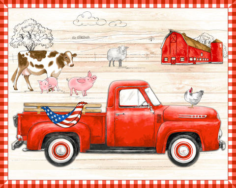 Cotton,Quilt,Fabric,Project,Panel,Vintage,Country,Pickup,USA,Flag,Creation,Station,,quilt backing, dresses, quilt fabric,cotton material,auntie chris quilt,sewing,crafts,quilting,online fabric,sale fabric
