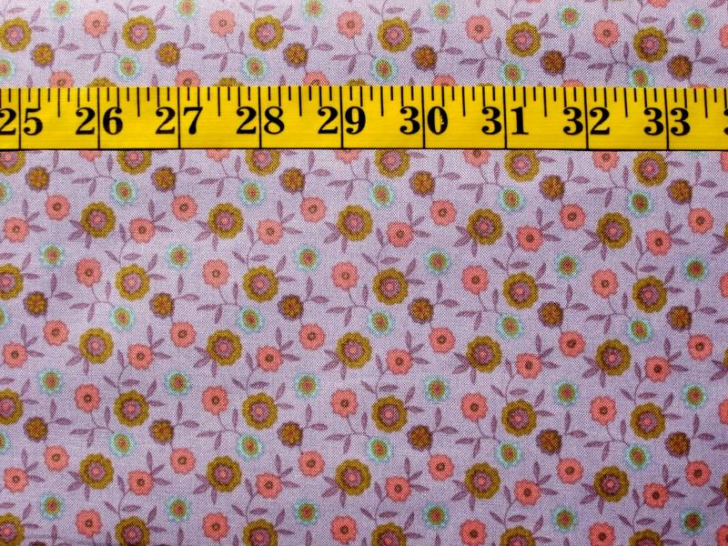 Cotton Quilt Fabric Bountiful Buggy Barn Sherbet Collection Floral Lilac Multi  - product images  of