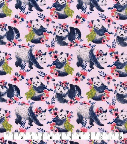 Cotton,Quilt,Fabric,Flannel,Super,Snuggle,Floral,Panda,,quilt backing, dresses, quilt fabric,cotton material,auntie chris quilt,sewing,crafts,quilting,online fabric,sale fabric