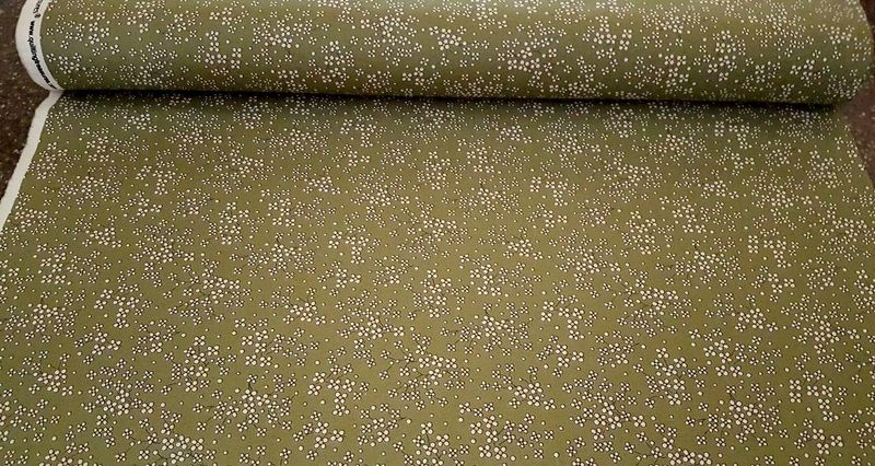 Cotton Quilt Fabric Stafford Small Daisy Floral Reproduction Olive Green - product images  of