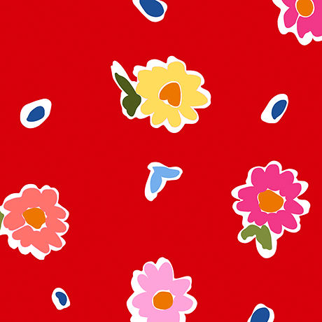 Cotton,Quilt,Fabric,June,Bee,Penelope,Tossed,Floral,red,Multi,,quilt backing, dresses, quilt fabric,cotton material,auntie chris quilt,sewing,crafts,quilting,online fabric,sale fabric