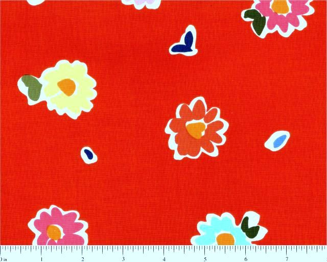 Cotton Quilt Fabric June Bee Penelope Tossed Floral red Multi  - product images  of