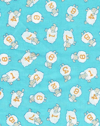 Cotton,Quilt,Fabric,Counting,Sheep,Nursery,Blue,White,,quilt backing, dresses, quilt fabric,cotton material,auntie chris quilt,sewing,crafts,quilting,online fabric,sale fabric