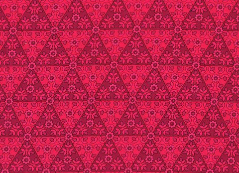 COTTON,QUILT,FABRIC,ANTHOLOGY,Magenta,TONE,ON,FLORAL,TRIANGLES,,quilt backing, dresses, quilt fabric,cotton material,auntie chris quilt,sewing,crafts,quilting,online fabric,sale fabric