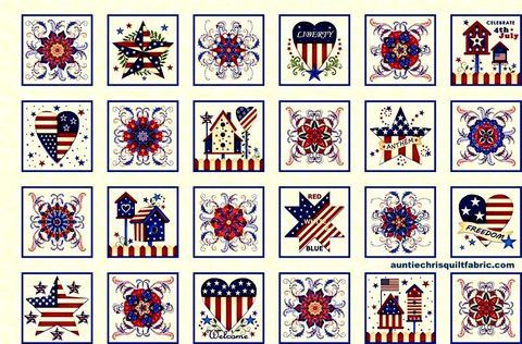 Cotton,Quilt,Fabric,Land,That,I,Love,Patriotic,Panel,Red,White,Blue,24,,quilt backing, dresses, quilt fabric,cotton material,auntie chris quilt,sewing,crafts,quilting,online fabric,sale fabric