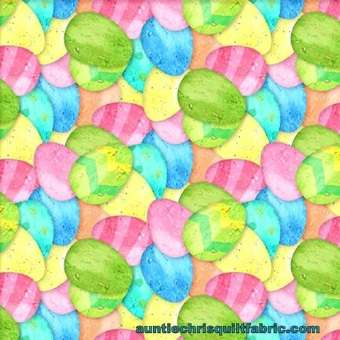 Cotton,Quilt,Fabric,Easter,Parade,Pastel,Eggs,Multi,,quilt backing, dresses, quilt fabric,cotton material,auntie chris quilt,sewing,crafts,quilting,online fabric,sale fabric