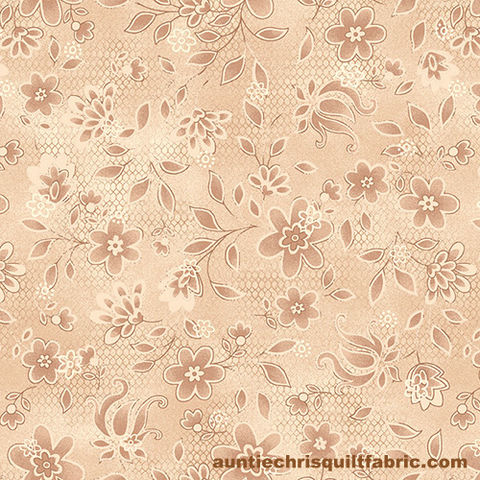 Cotton,Quilt,Fabric,Tickled,Pink,Tone,On,Floral,Tan,,quilt backing, dresses, quilt fabric,cotton material,auntie chris quilt,sewing,crafts,quilting,online fabric,sale fabric