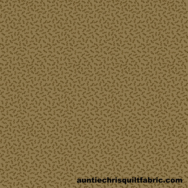 Cotton Quilt Fabric Buttermilk Winter Mini Squiggles Green Tan - product images  of