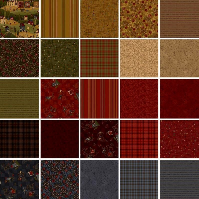 Cotton Quilt Fabric Home Is Best Word Toss Houses Red - product images  of