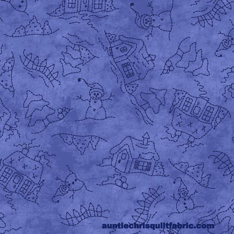 Cotton,Quilt,Fabric,Roly-Poly,Snowmen,Landscape,blue,Tone,On,,quilt backing, dresses, quilt fabric,cotton material,auntie chris quilt,sewing,crafts,quilting,online fabric,sale fabric