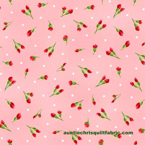 Cotton,Quilt,Fabric,Chloe,Light,Pink,Rose,Buds,Floral,,quilt backing, dresses, quilt fabric,cotton material,auntie chris quilt,sewing,crafts,quilting,online fabric,sale fabric