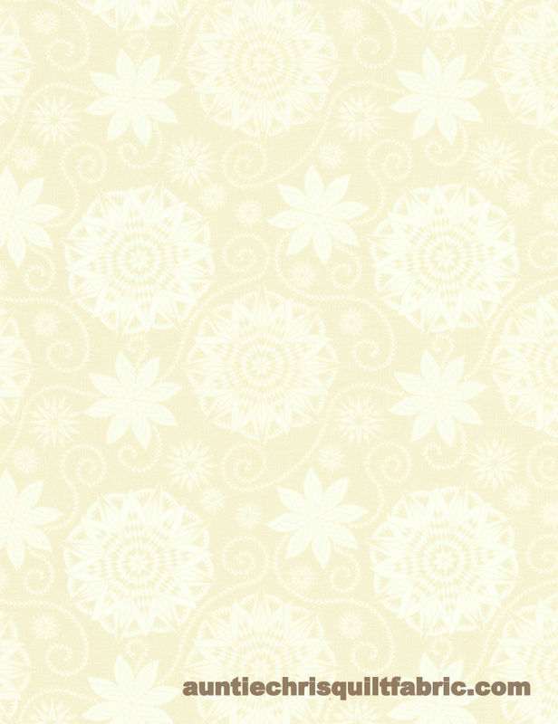 Good Buy Cotton Quilt Fabric BOHEMIAN BLUES Quilterly Medallions Medium Taupe - product images  of