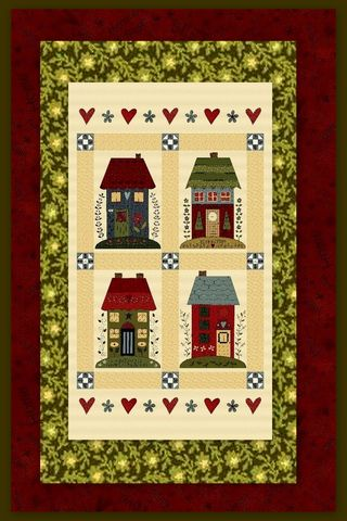 Easy,Fabric,Panel,Quilt,Kit,Home,Sewn,Cottages,kit,quilt fabric,cotton material,auntie chris quilt,sewing,crafts,quilting,online fabric,sale fabric