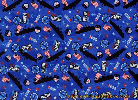 Good,Buy,Cotton,Quilt,Fabric,Marines,USA,Patriotic,Ships,American,Flag,Blue,,quilt backing, dresses, quilt fabric,cotton material,auntie chris quilt,sewing,crafts,quilting,online fabric,sale fabric