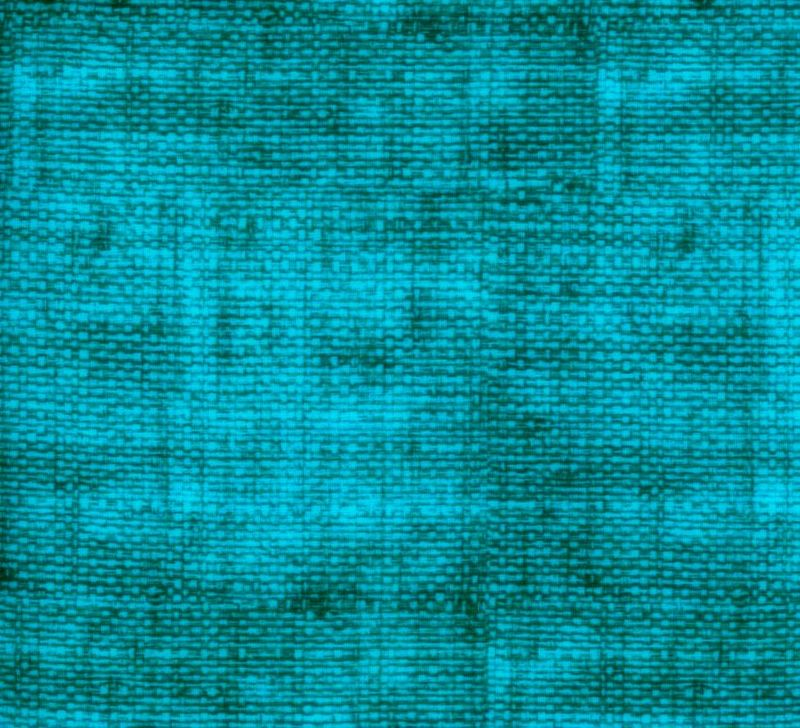 Cotton Quilt Fabric Faux Burlap Texture Blenders Turquoise Teal Blue - product images  of