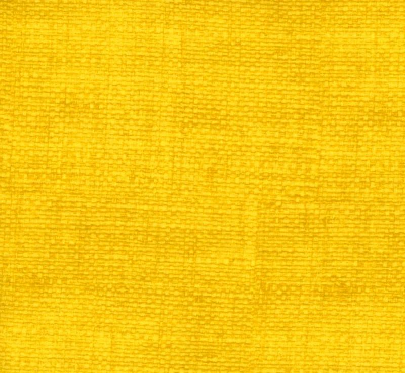 Good BUy Cotton Quilt Fabric Burlap Texture Blenders Bright Yellow - product images  of