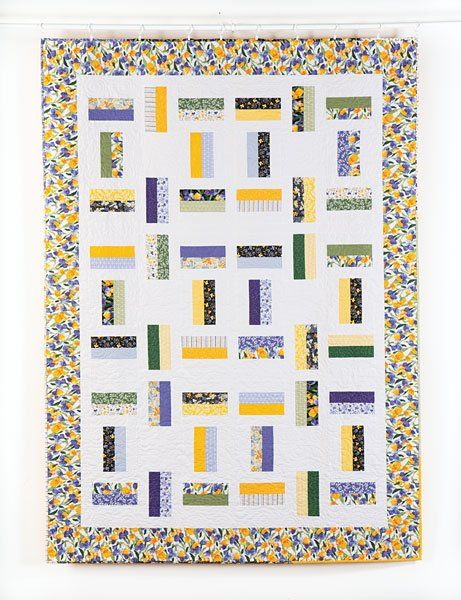 "Lovely Spring Iris Regelia Waltz Quilt Kit 66"" x 92"" - product images  of"