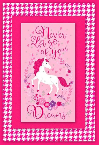 Easy,Fabric,Panel,Quilt,Kit,Pink,Dreams,Unicorn,kit,quilt fabric,cotton material,auntie chris quilt,sewing,crafts,quilting,online fabric,sale fabric