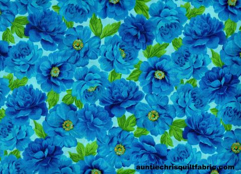 Cotton,Quilt,Fabric,Keepsake,Calico,FLOWER,GARDEN,Blue,16706,,quilt backing, dresses, quilt fabric,cotton material,auntie chris quilt,sewing,crafts,quilting,online fabric,sale fabric