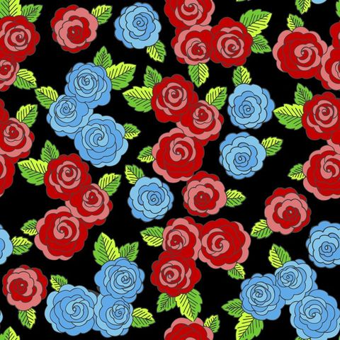 Good,Buy,Cotton,Quilt,Fabric,FRIDA'S,ROSES,BLACK,Multi,Floral,,quilt backing, dresses, quilt fabric,cotton material,auntie chris quilt,sewing,crafts,quilting,online fabric,sale fabric