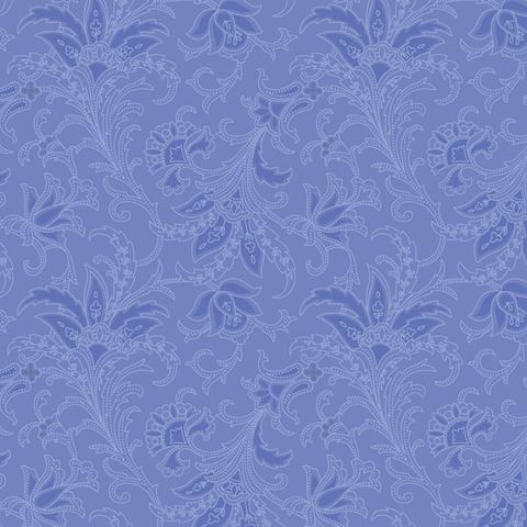 Cotton,Quilt,Fabric,Camile's,Vintage,Regatta,Blue,Tone,On,Floral,,quilt backing, dresses, quilt fabric,cotton material,auntie chris quilt,sewing,crafts,quilting,online fabric,sale fabric