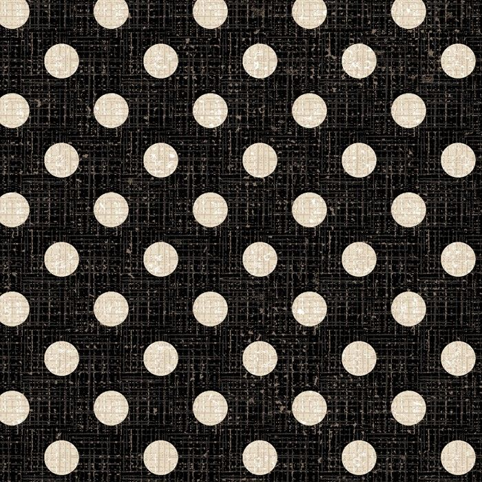 Cotton Quilt Fabric Textured Dots Black White Linen Look - product image
