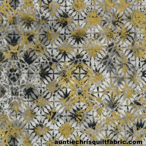 Cotton,Quilt,Fabric,Metallic,Zephyr,Starbursts,Storm,Gray,Gold,,quilt backing, dresses, quilt fabric,cotton material,auntie chris quilt,sewing,crafts,quilting,online fabric,sale fabric