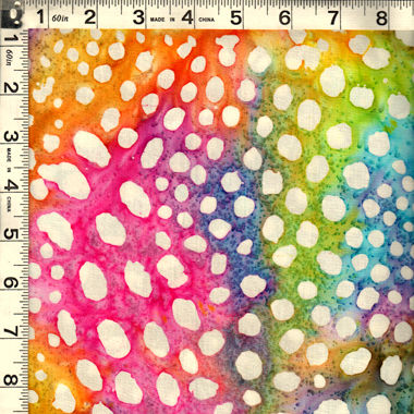 Cotton Batik Quilt Fabric India SARASOTA Small Dots Pastel Multi SRS-096 - product images  of