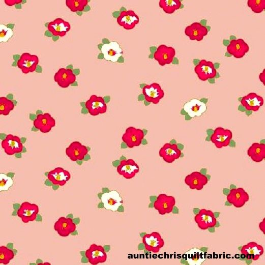 Cotton Quilt Fabric Quilt Gate Hyakka Ryoran Modern Movement Camellia - product images  of