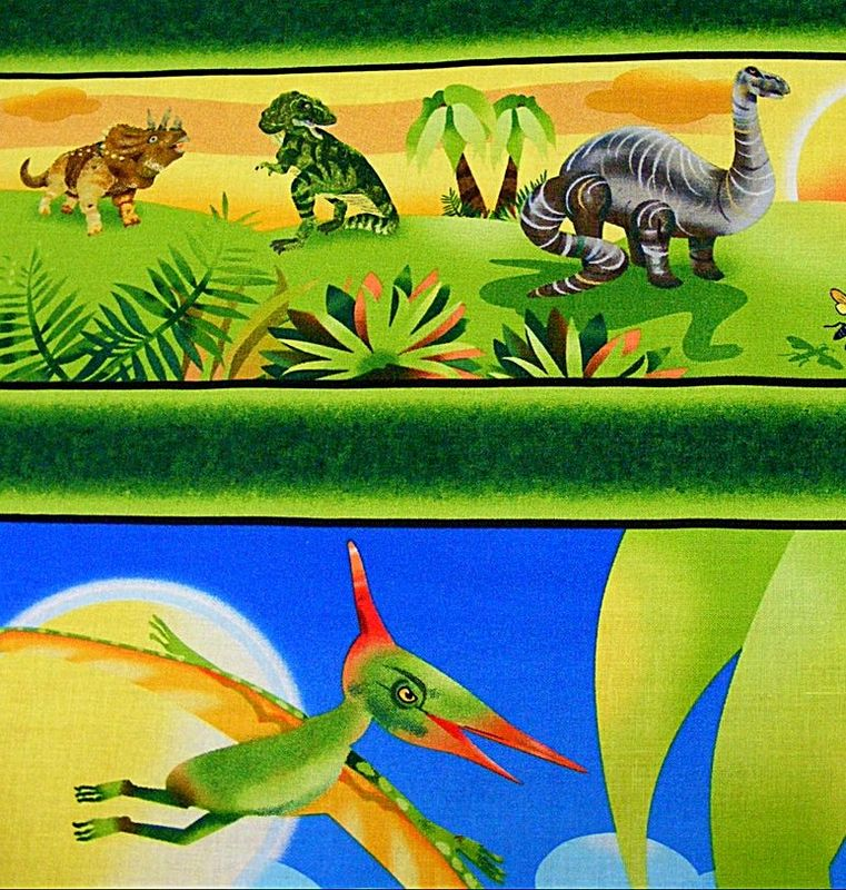 Cotton Quilt Fabric DINO Might Dinosaur T-Rex Dinosaur - product images  of