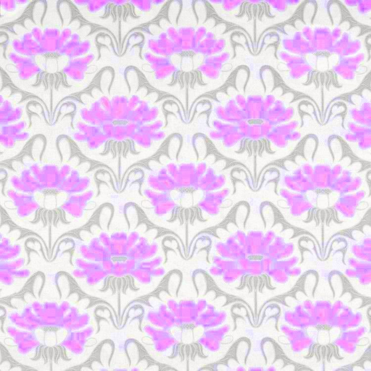 Cotton Quilt Fabric Concord House Nursery Grace Floral Pink Grey White - product images  of
