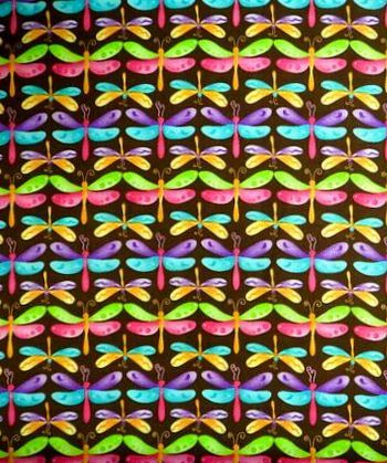 Cotton,Quilt,Fabric,Dragonflies,Bright,Pastel,Brown,Multi,Dragonfly,,quilt backing, dresses, quilt fabric,cotton material,auntie chris quilt,sewing,crafts,quilting,online fabric,sale fabric