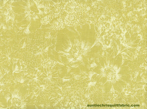 Cotton,Quilt,Fabric,Etched,Floral,Gate,Japan,Soft,Spring,Green,,quilt backing, dresses, quilt fabric,cotton material,auntie chris quilt,sewing,crafts,quilting,online fabric,sale fabric