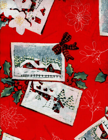 Cotton,Quilt,Fabric,COUNTRY,CHRISTMAS,POSTCARDS,Red,Multi,,quilt backing, dresses, quilt fabric,cotton material,auntie chris quilt,sewing,crafts,quilting,online fabric,sale fabric