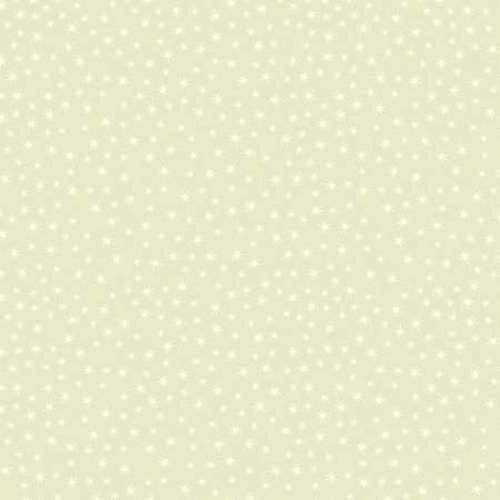 Cotton Quilt Fabric Christmas Cheer Sparkle White Stars On Off White - product images  of
