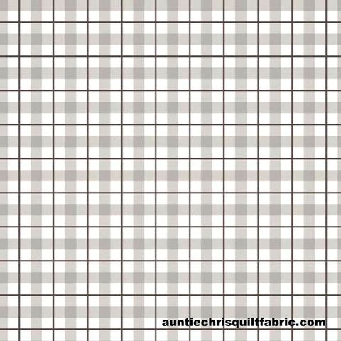 Cotton,Quilt,Fabric,Loads,of,Fun,Plaid,Pewter,Check,,quilt backing, dresses, quilt fabric,cotton material,auntie chris quilt,sewing,crafts,quilting,online fabric,sale fabric