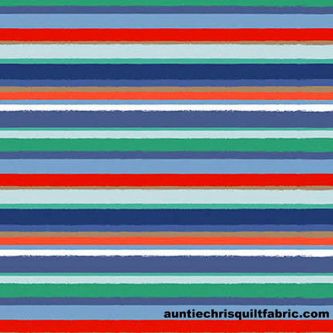 Cotton,Quilt,Fabric,Coastal,Dreams,Sea,Glass,Stripe,Multi,,quilt backing, dresses, quilt fabric,cotton material,auntie chris quilt,sewing,crafts,quilting,online fabric,sale fabric