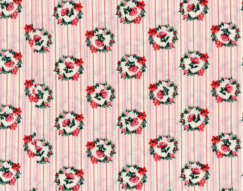 Cotton,Quilt,Fabric,Victorian,Wallpaper,Ticking,Stripe,Floral,Pink,Cut,Yards,,quilt backing, dresses, quilt fabric,cotton material,auntie chris quilt,sewing,crafts,quilting,online fabric,sale fabric