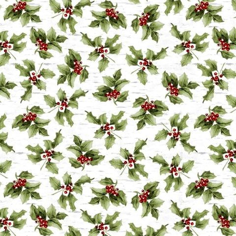 Cotton,Quilt,Fabric,Christmas,Sheltering,Snowman,Mistletoe,Green,On,Birch,,quilt backing, dresses, quilt fabric,cotton material,auntie chris quilt,sewing,crafts,quilting,online fabric,sale fabric