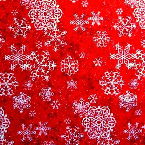 Cotton,Quilt,Fabric,Christmas,Sheltering,Snowman,Swirling,Snowflakes,White,Red,,quilt backing, dresses, quilt fabric,cotton material,auntie chris quilt,sewing,crafts,quilting,online fabric,sale fabric
