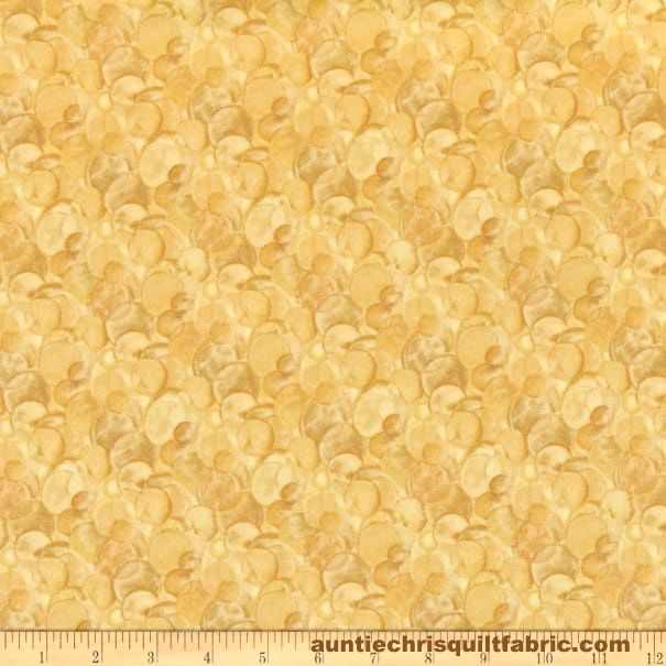 Cotton Quilt Fabric Irish Blessing Halos CREAM/TAN Abstract - product images  of